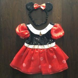 DISNEY STORE Minnie Mouse dress headband 6-12 mos